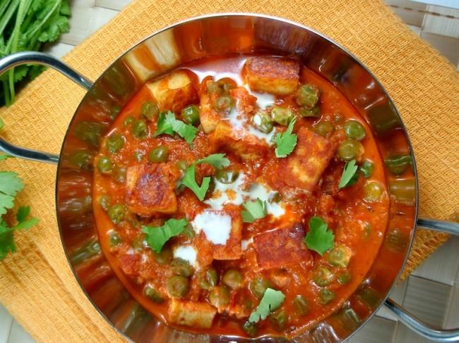 Matar Paneer. Indian vegetarian recipe. ~ Shimafood: Easy cooking ...