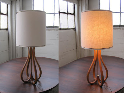 Vintage teak lamp -- The Impatient Gardener