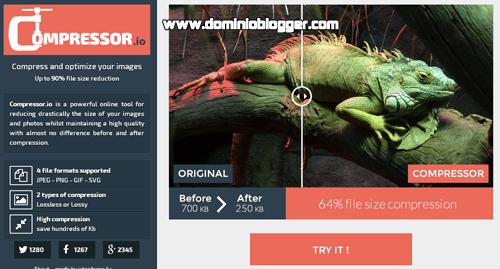 Comprime el peso de tus imágenes al maximo con Compressor