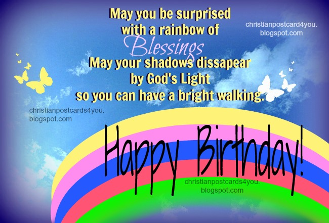 Birthday Blessings Christian Card – Christian Birthday Verses for Cards