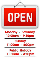 New Opening Hour!