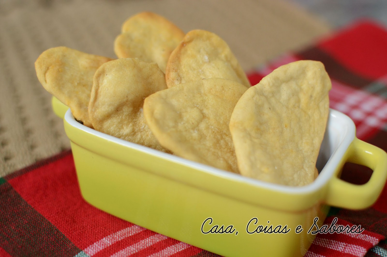 Well-known Casa, Coisas e Sabores: Biscoito salgado de azeite, páprica e pimenta UK33