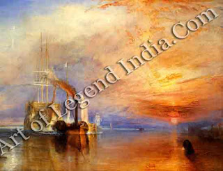 "The Great Artist Joseph Turner Painting ""The Fighting Temeraire"" 1838 35 ¼ "" x 48"" National Gallery, London"