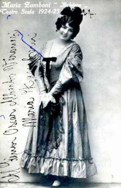 GREAT ITALIAN SOPRANO MARIA ZAMBONI (1895-1976) CD