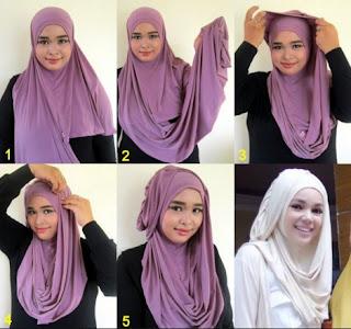 Tutorial Memakai Hijab Ala Dewi Sandra