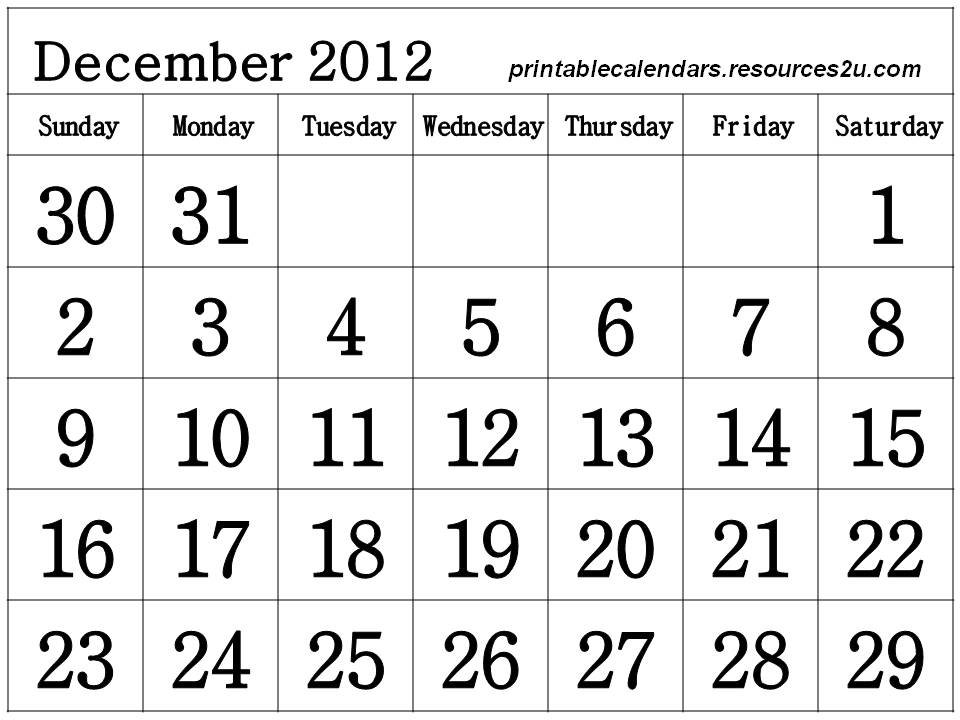Other free printable homemade 2012 Calendars and Planners Photos, les ...