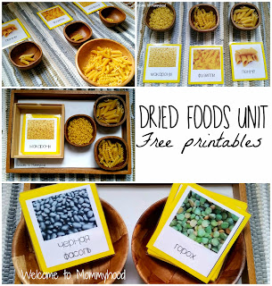 Grains, pasta, beans and more! Free printables!