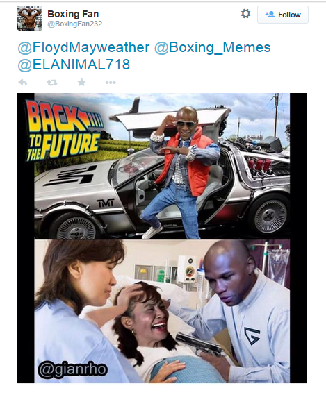 floyd will kill pacquiao's mom at back to the future past