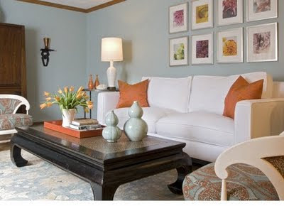 Coffee Table Accessories Amazing Of Orange and Turquoise Living Room Image