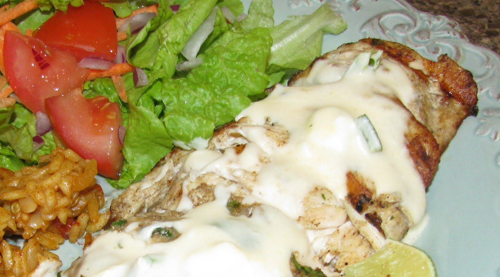 4daysgourmet: Tequila Grilled Chicken with Jalapeno Cream Sauce