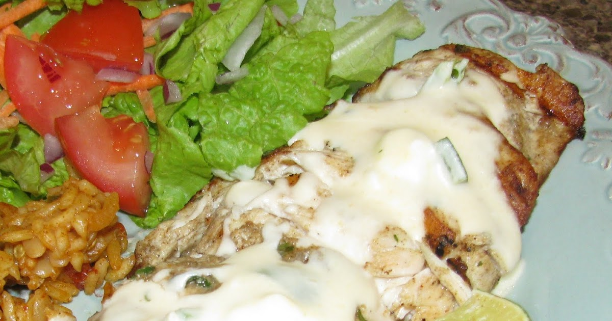 4daysgourmet: Tequila Grilled Chicken with Jalapeno Cream ...