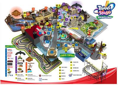 Peta Lokasi Wahana Trans Studio Bandung