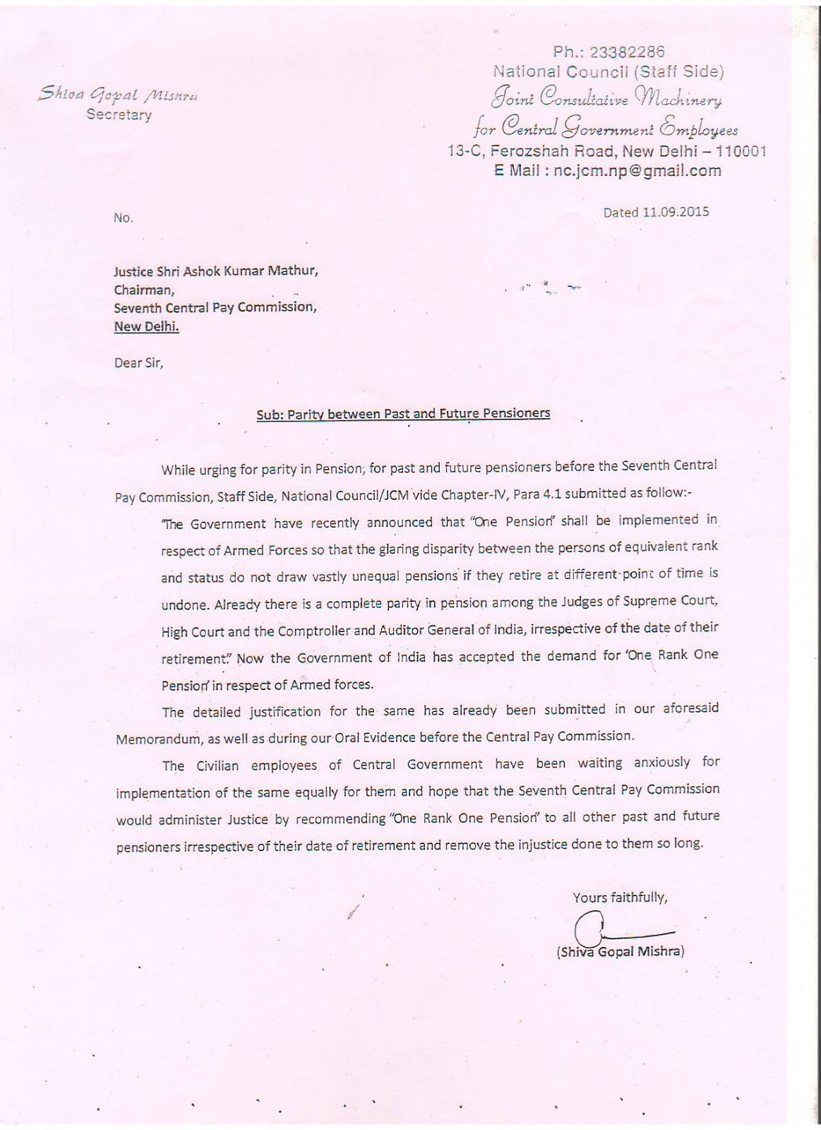 All India Postal Amp RMS Pensioners Association Demand Of