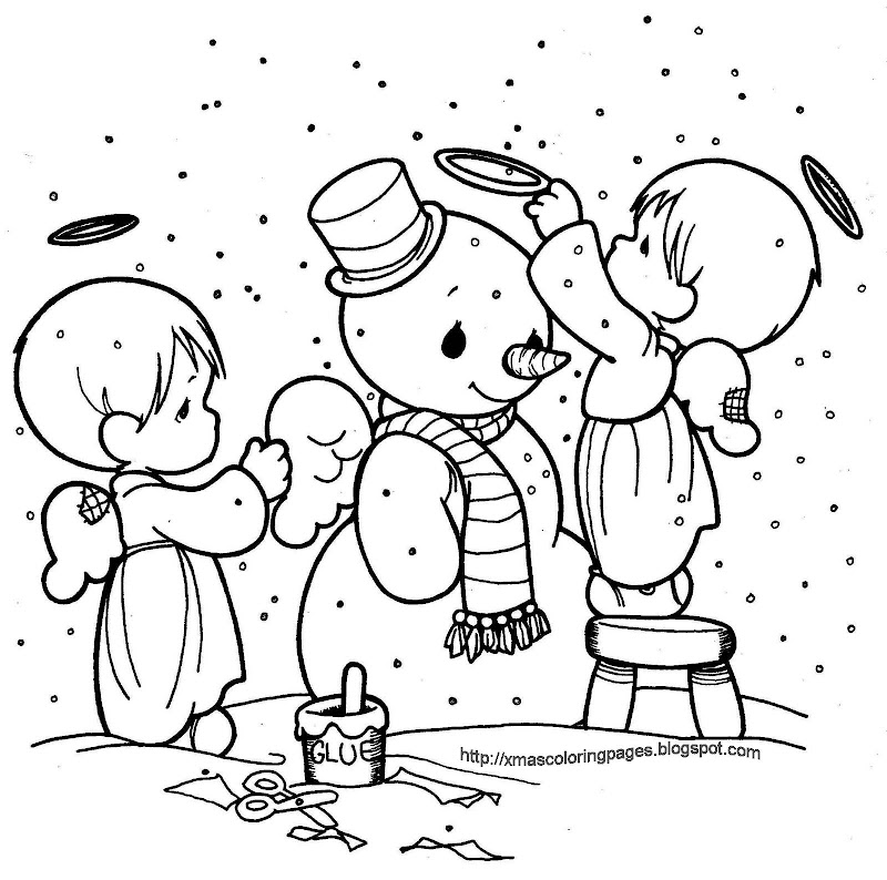 ANGEL COLORING PAGE title=