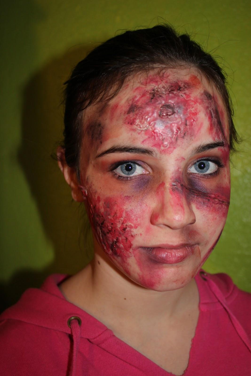 fashionably crafty paris: diy zombie makeup flesh how to tutorial