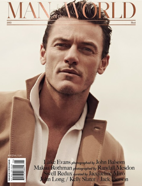 Luke Evans Man of The World No.4 Cover