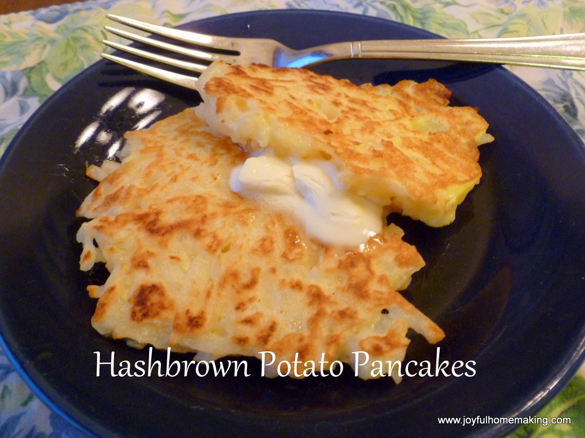 potato pancakes two ways joyful homemaking. Black Bedroom Furniture Sets. Home Design Ideas