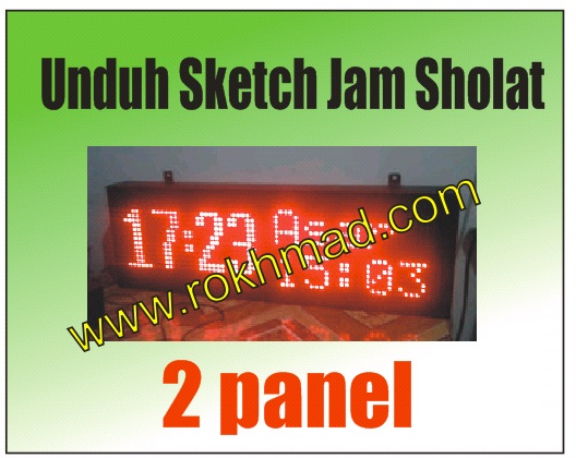 Sketch Jam Sholat 2 Panel
