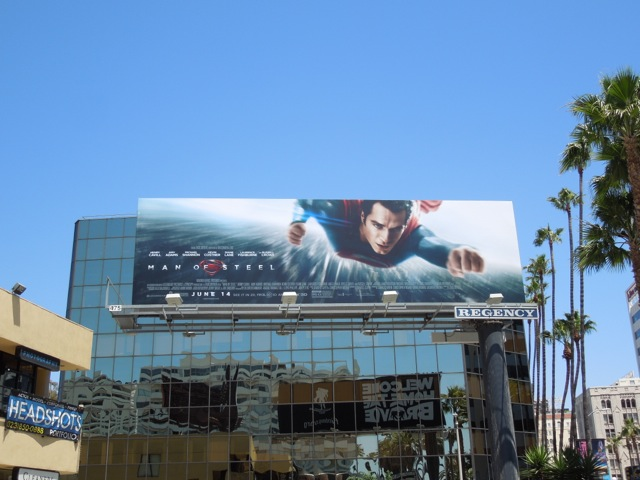 Man of Steel movie billboard