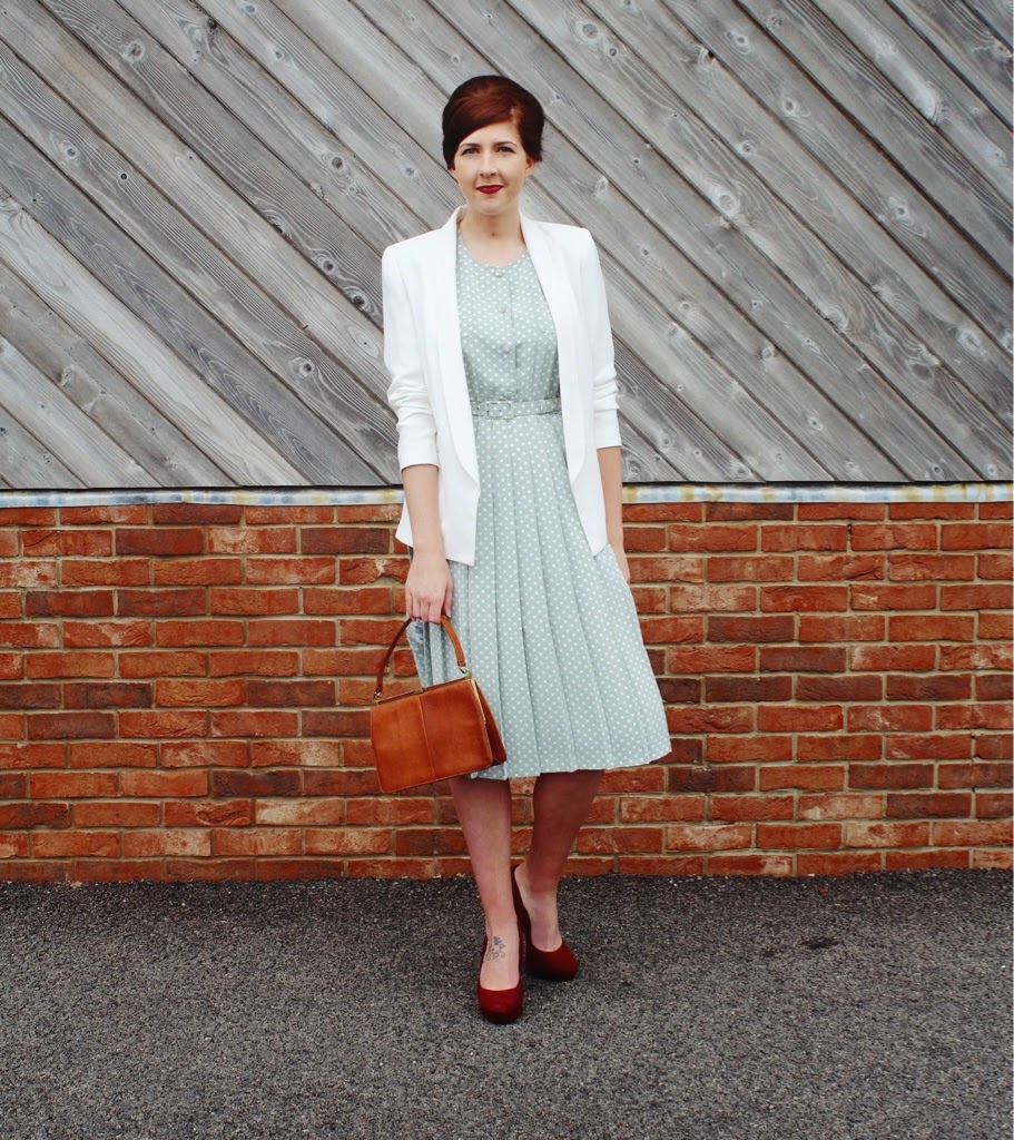 vintage, styleyard, wiw, whatimwearing, halcyonvelvet, asseenonme, 1950sfashion, polkadotdress, newlook, topshop, fbloggers, fashionbloggers, ootd, outfitoftheday, lotd, lookoftheday