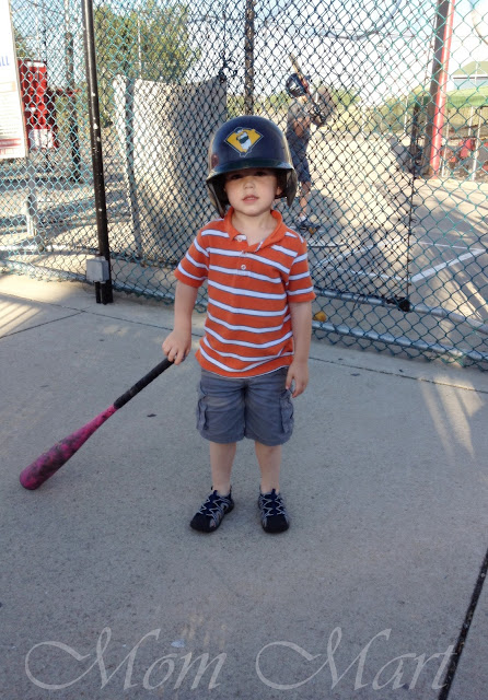 3 year old ready to play baseball!