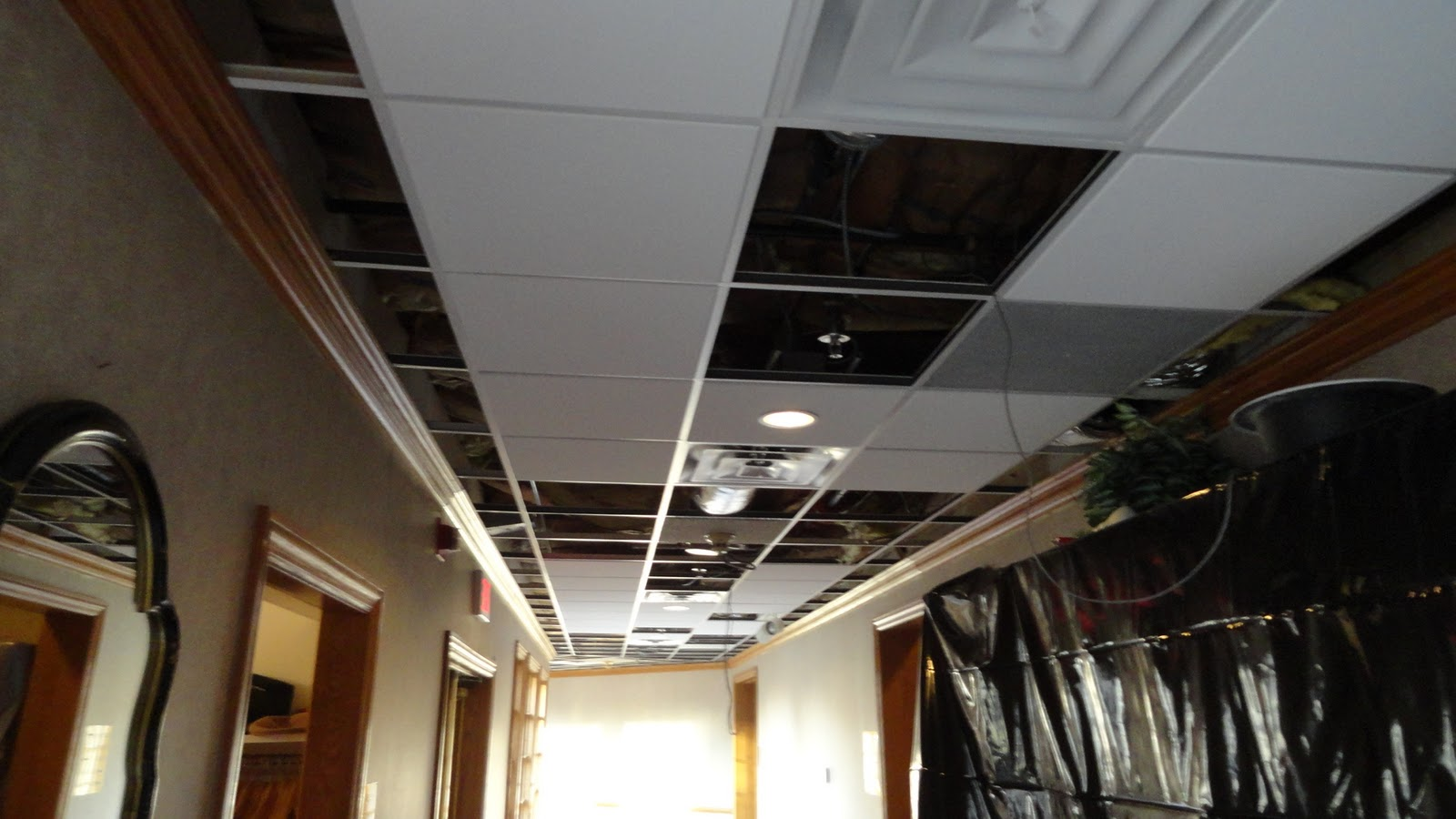 New Ceilings Going Up In The Clubhouse Naperville Country Club