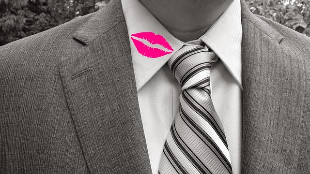 Lipstick on his shirt? He might be cheating!