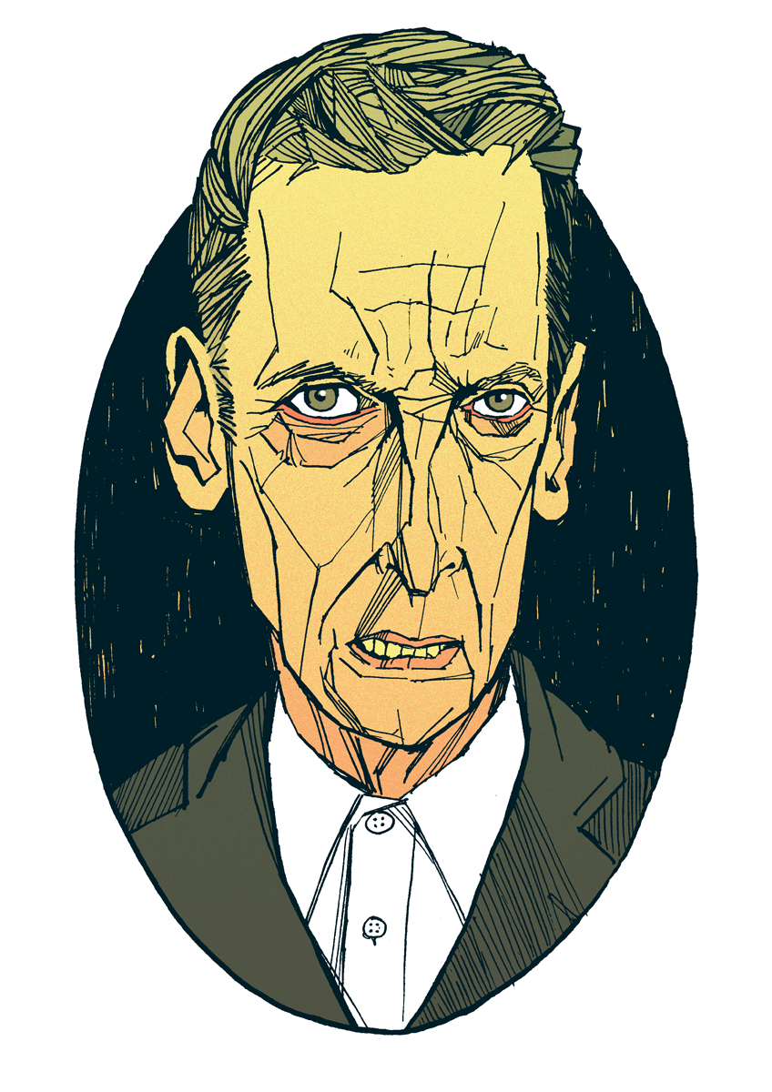 Peter Capaldi Doctor Who Portrait Drawing