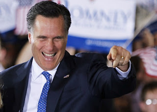 Mitt Romney Republican candidate looking happy