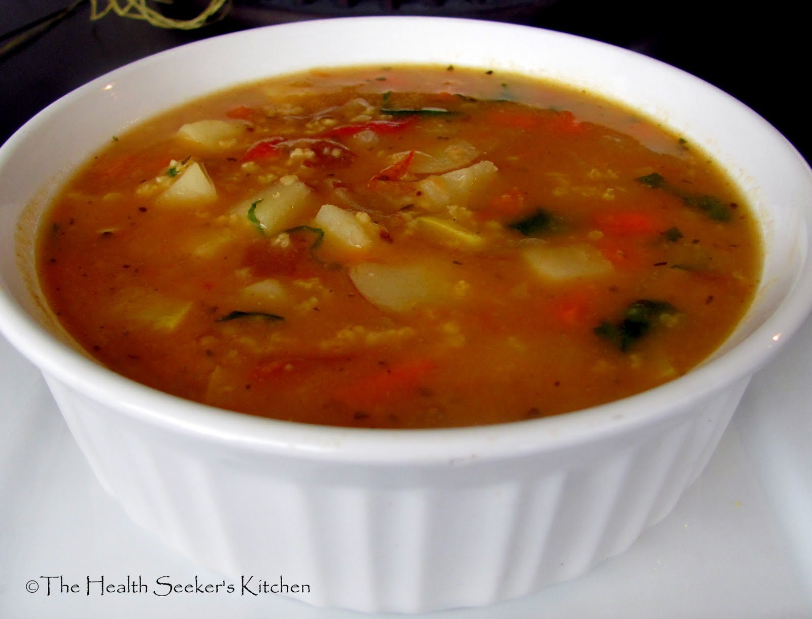 The Health Seekers Kitchen: Savory Quinoa and Vegetable Soup