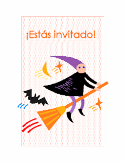 tarjeta de invitación de fiesta de Halloween