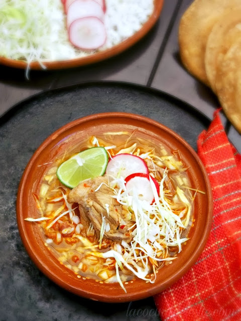 Traditional Mexican Pozole recipe - lacocinadeleslie.com
