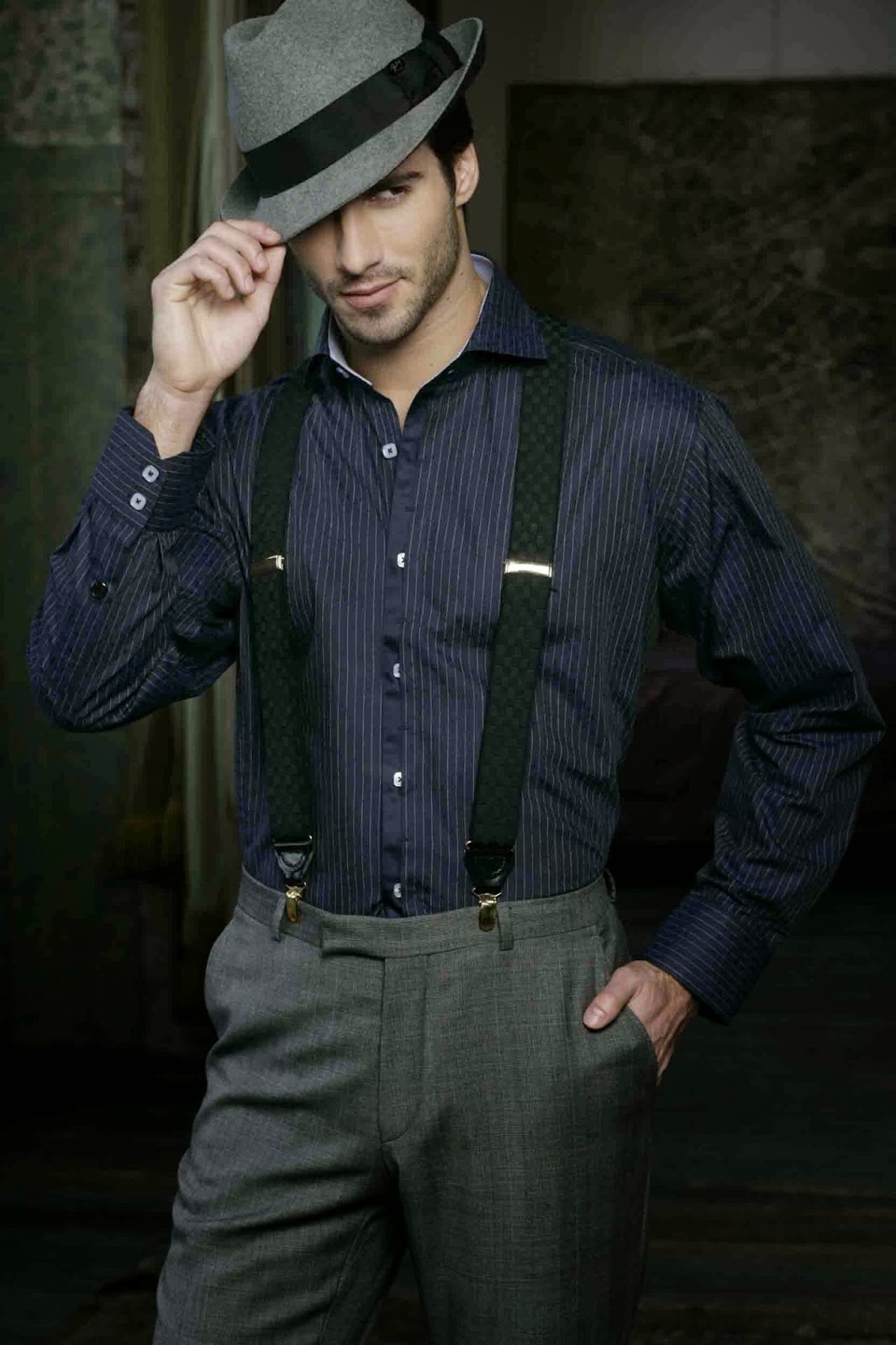 Cool Dark Men Dress Shirt