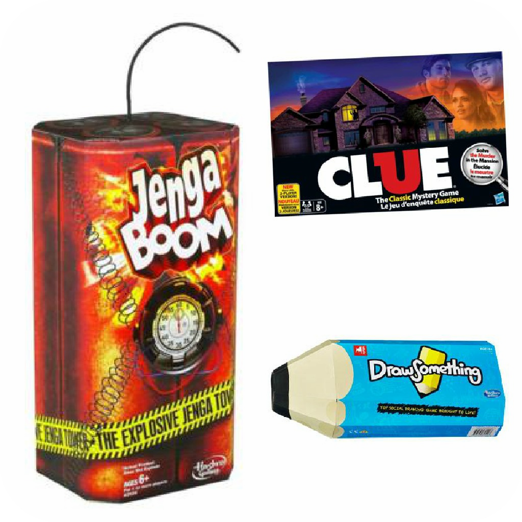 Jenga Kaboom, Clue, Drawsomething Zynga