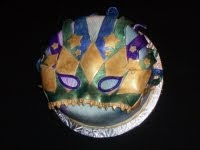 Mardi Gras Mask Cakes