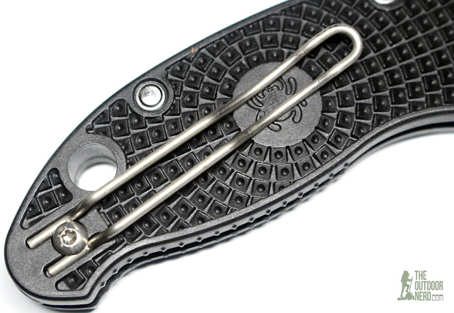 Spyderco Manix 2 Lightweight Pocket Knife - Closeup Of Wire Clip