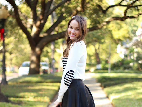 Sequin Stripes and a Skater Skirt