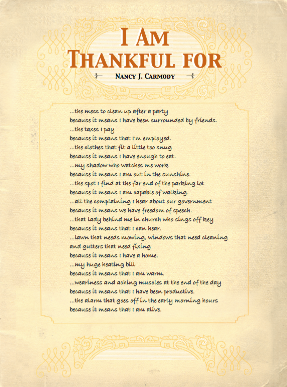 poem about being thankful for friends