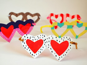 Finished Heart Shaped Glasses Craft