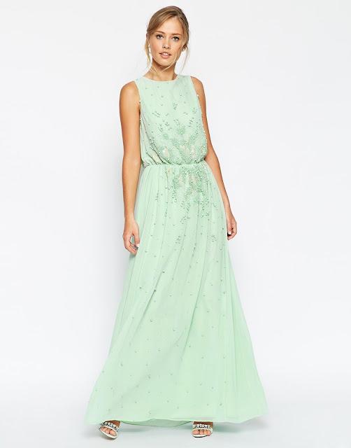 Vestido verde menta invitada boda