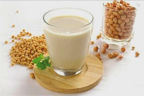 Sữa đậu nành có tác dụng làm săn da, giảm mỡ