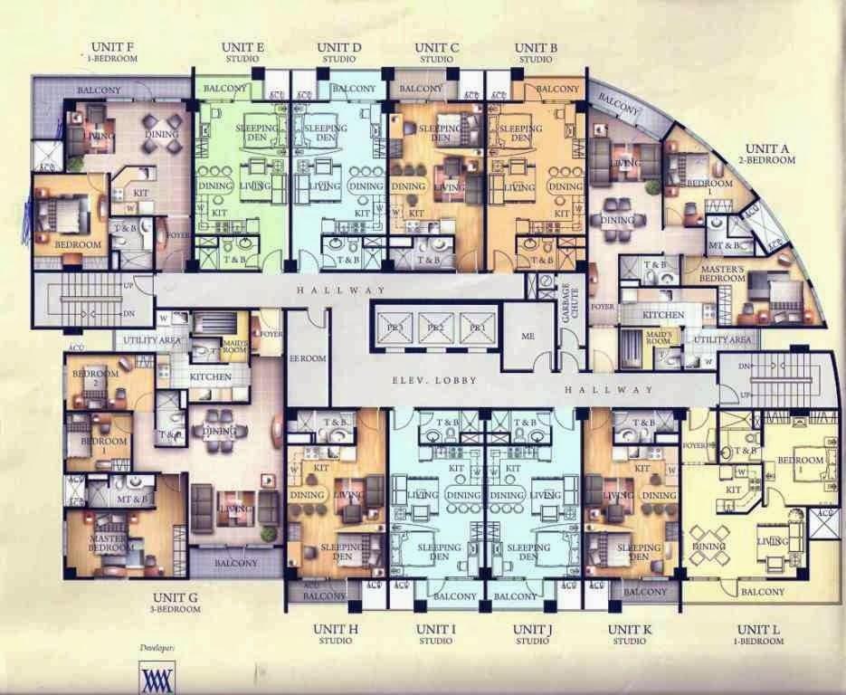 Studio type floor plan philippines joy studio design for Studio type plan