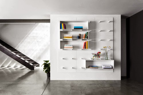 wall mounted modular storage design by: Aris