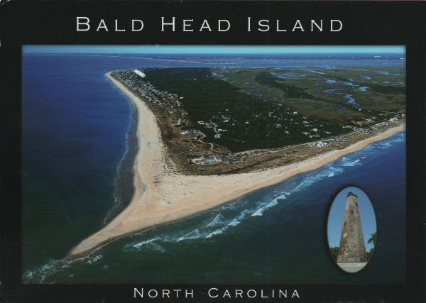 aerial view of island, beach, and salt marshes