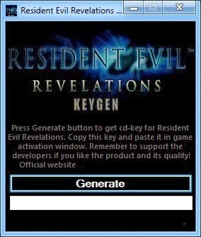 Resident Evil Revelation CD KEY Generator