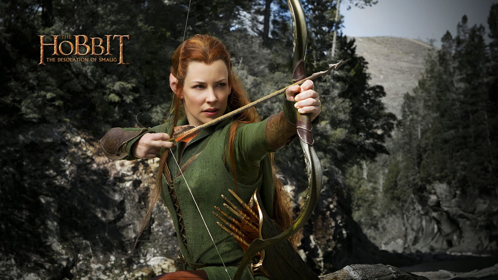 Evangeline Lilly as Tauriel in Hobbit HD Wallpaper iHD  - evangeline lilly as tauriel in hobbit wallpapers