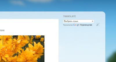 Гаджет переводчика на блоге