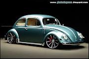 As única alterações no Volkswagen Fusca Tuning foi a adoção de uma suspensão .