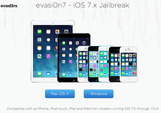 Risky Compatible Jailbreak for iOS 7.x from Evasi0n Team