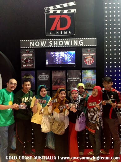 Awesomazing Team tengok 7D Cinema